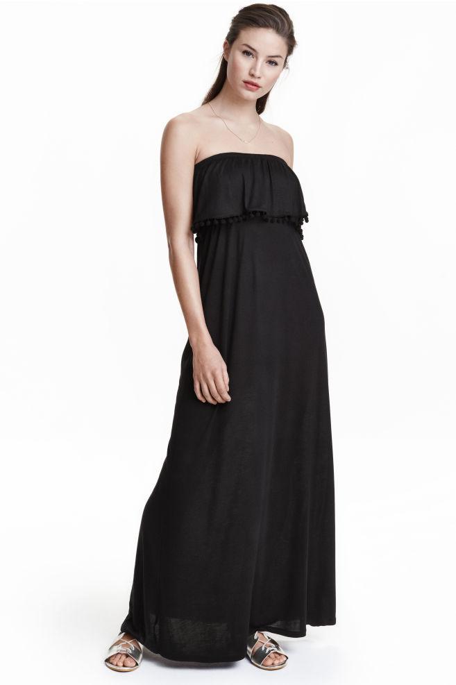 42005e56abc0 Šaty bez ramienok - čierna -