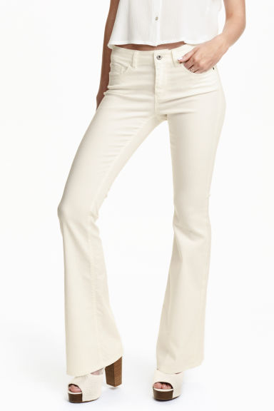 Flare Superstretch Jeans - White - Ladies | H&M GB