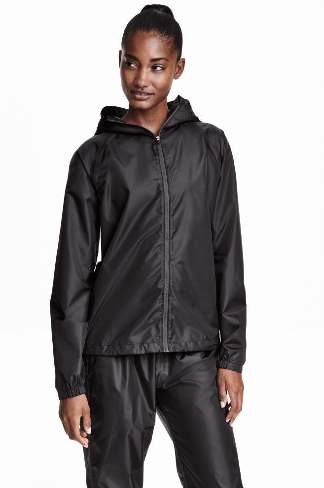 4c0ac4beae Bunda do dažďa s kapucňou - čierna - ŽENY