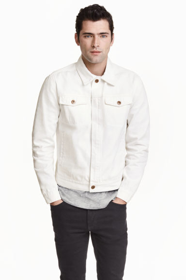Denim jacket - White - Men | H&M GB