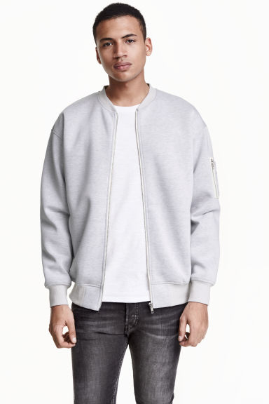 Sweatshirt jacket - Light grey - Men | H&M CN
