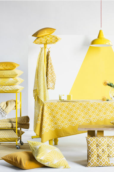 Canvas cushion cover - Yellow - Home All | H&M IE