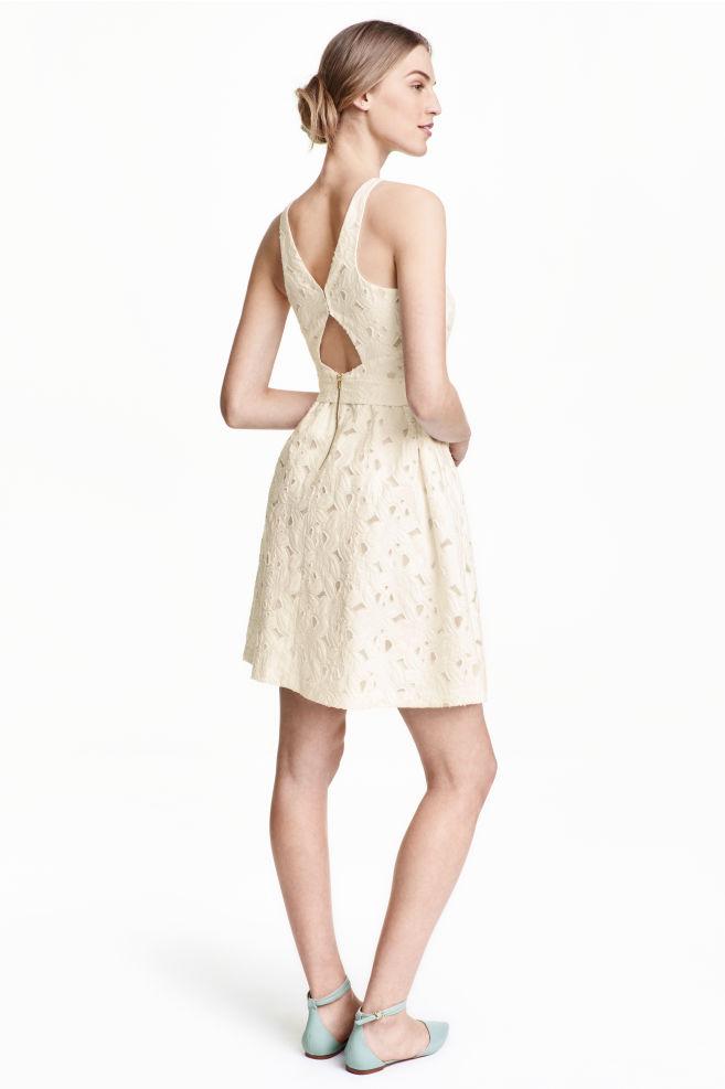 Žakárové šaty - biela - ŽENY  9830d4bcc58
