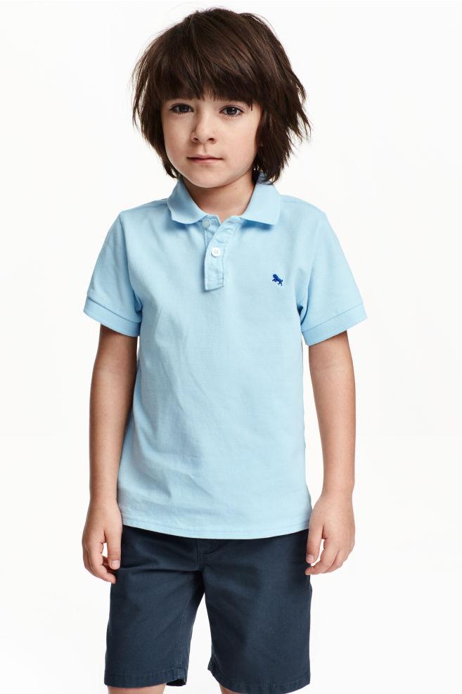 715a172e Cotton polo shirt - Light blue - Kids | H&M ...