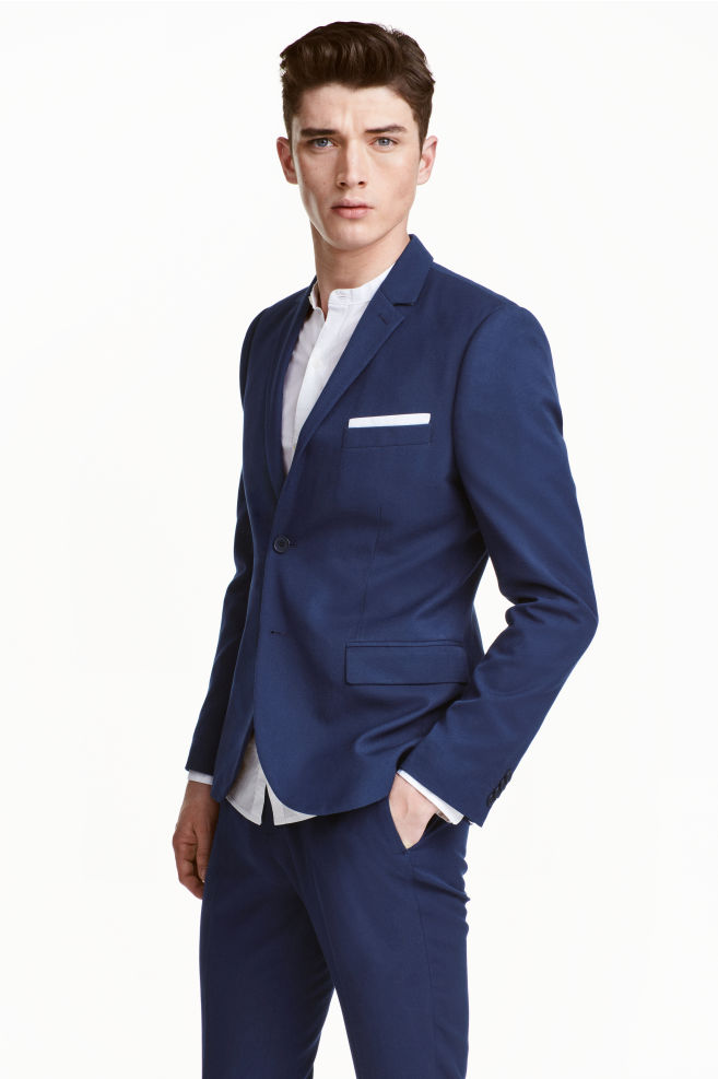 74dac7b6580e Jacket Slim fit - Navy blue - Men | H&M ...