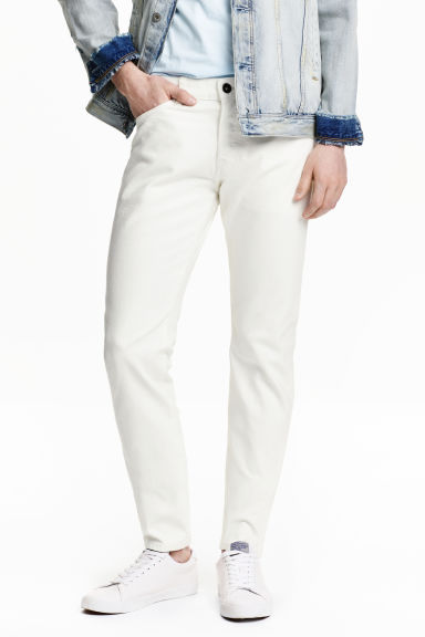 Slim Low Jeans - Blanc - HOMME | H&M FR