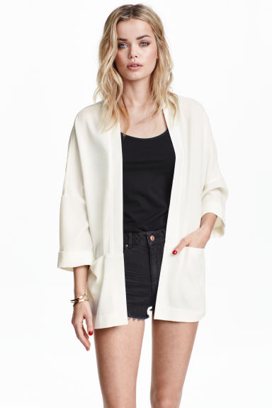 Blazer ample - Blanc -  | H&M BE