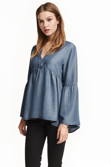 Lyocell tunic - Dark denim blue - Ladies | H&M GB