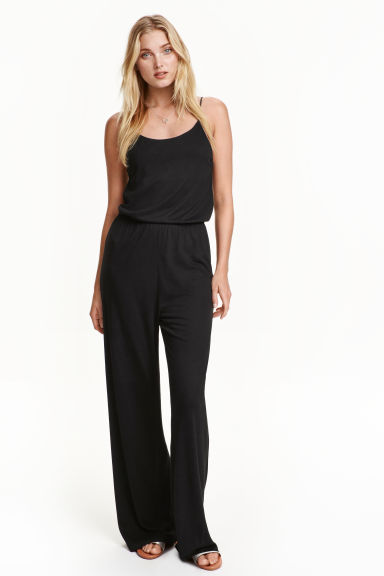 Jersey jumpsuit - Black - Ladies | H&M GB