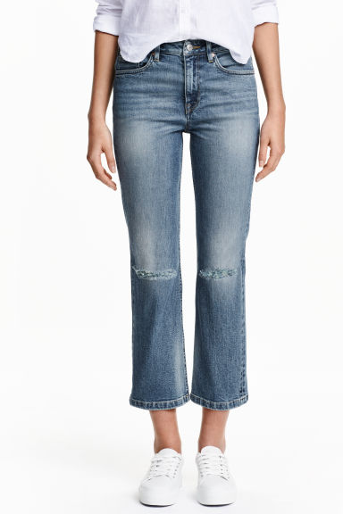 Straight High Ankle Jeans - Blu denim - DONNA | H&M IT