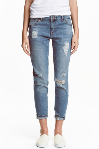 Boyfriend Slim Low Jeans - Blau - Ladies | H&M DE