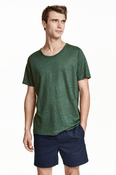 Cotton shorts - Dark blue - Men | H&M