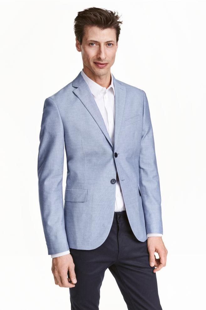 0f81f34e31 Pamut Oxford zakó - Kék - FÉRFI | H&M ...
