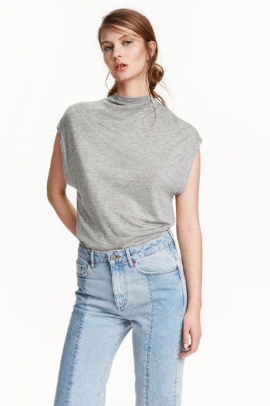 Lyocell top - Grey marl -  | H&M IE