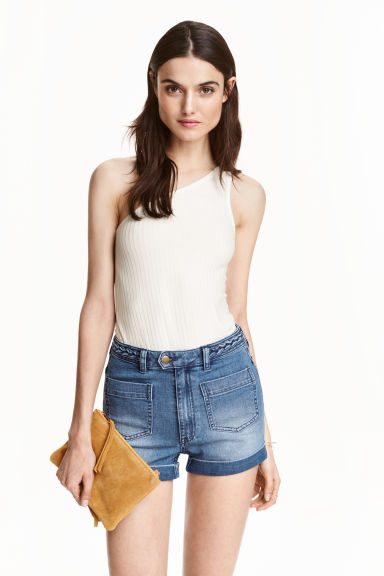 One-shoulder top - Natural white -  | H&M GB
