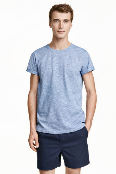 Tricot T-shirt - Blauw/smalle strepen - HEREN | H&M BE