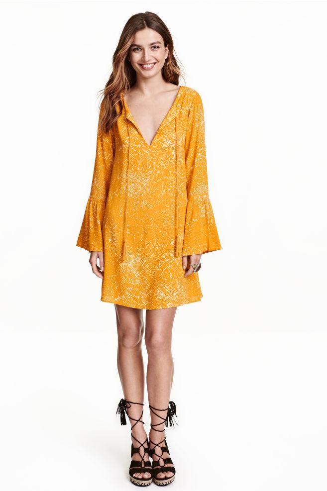 59de1f00d5 Mintás ruha - Mustársárga - NŐI | H&M ...