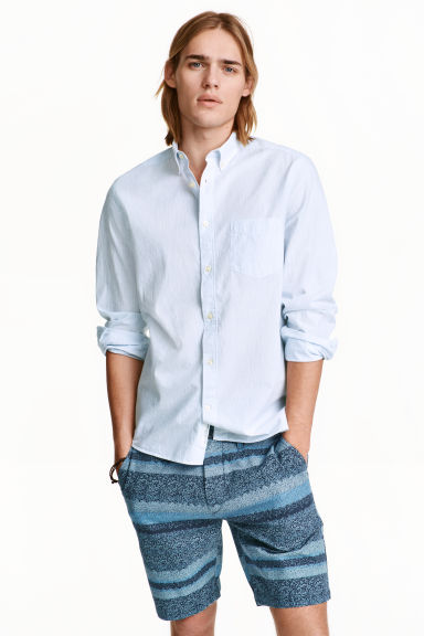 Shorts chinos - Blu scuro/righe - UOMO | H&M IT