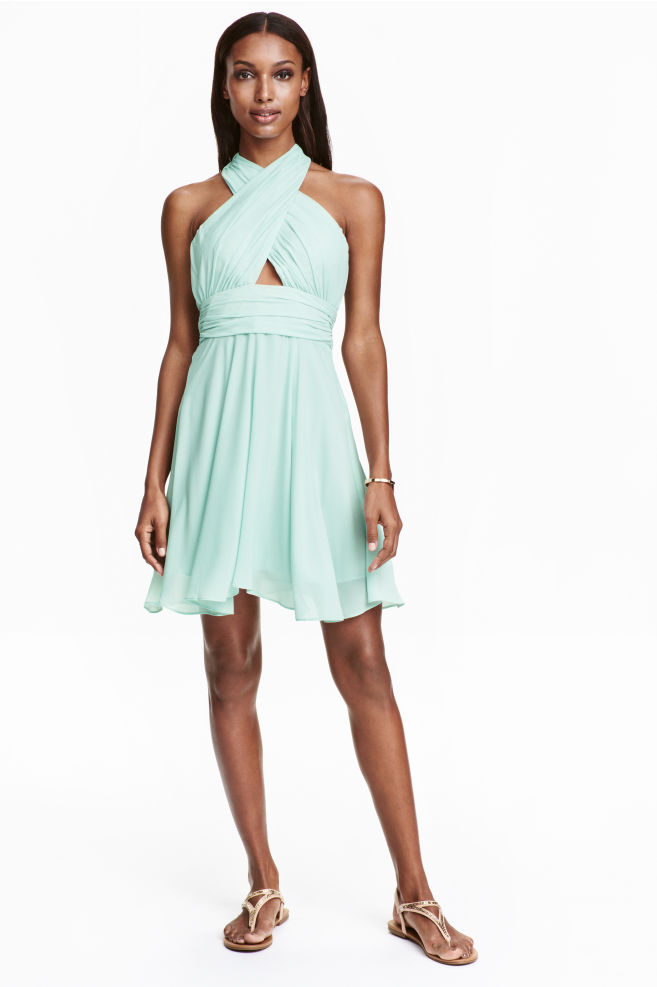 b957b4eccd02be Halterjurk - Mint - DAMES