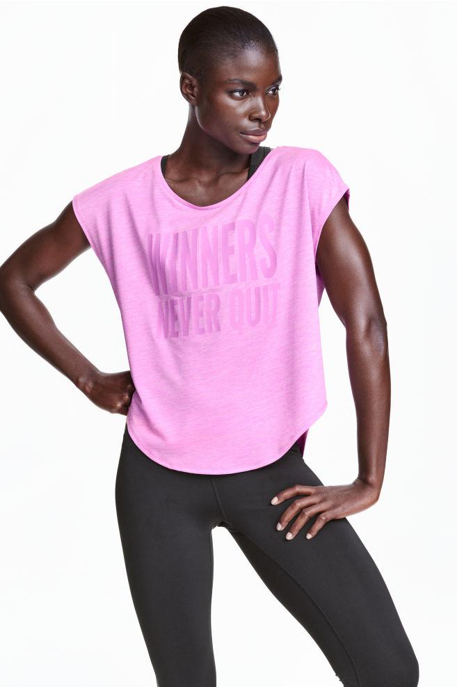 9a7f4c96d5c Sportovní tričko - Neonově růžový melír - ŽENY
