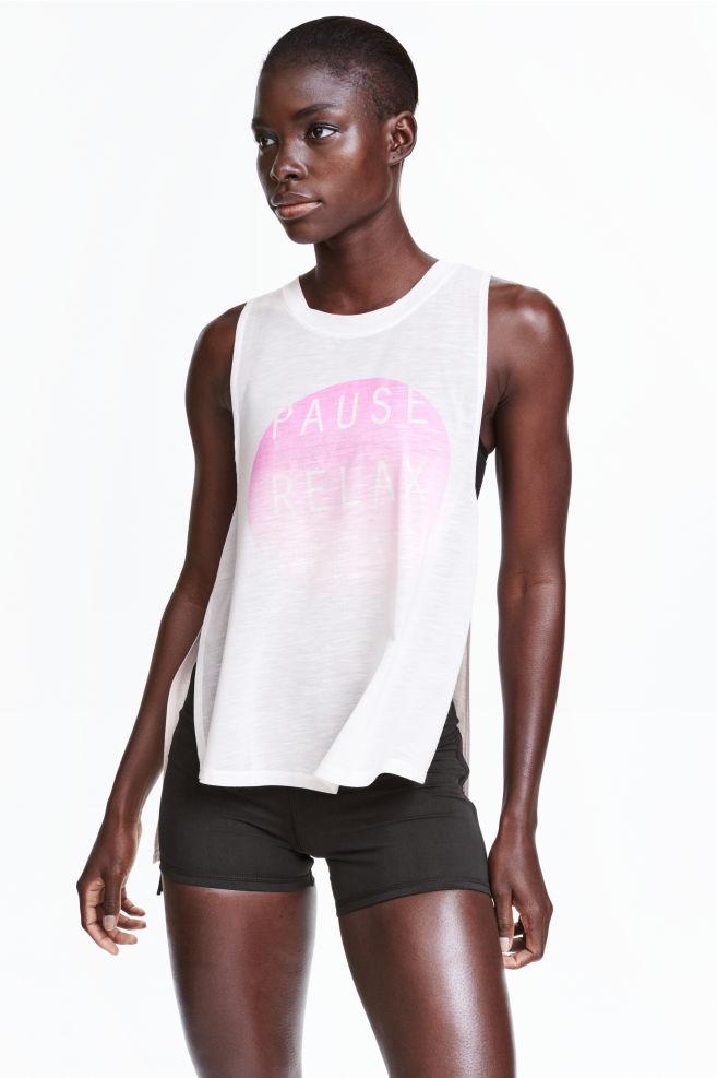 6b51efa429d7 Športové tričko bez rukávov - biela - ŽENY