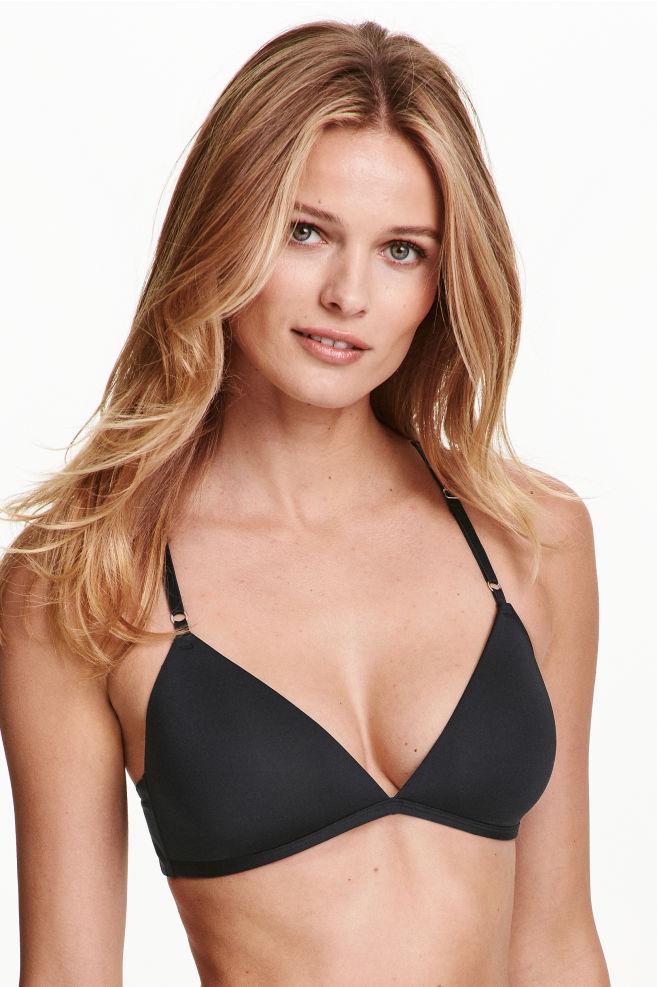 b6bd8478f9 Soft triangle bra - Black - Ladies