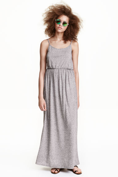 Maxi dress - Dark grey marl -  | H&M CN
