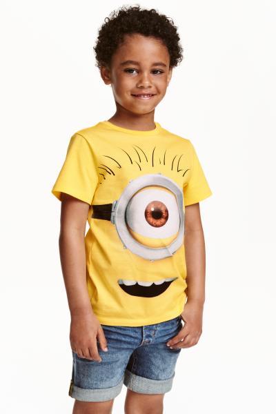 42e1e5636 Printed T-shirt - Yellow/Minions - Kids | H&M ...