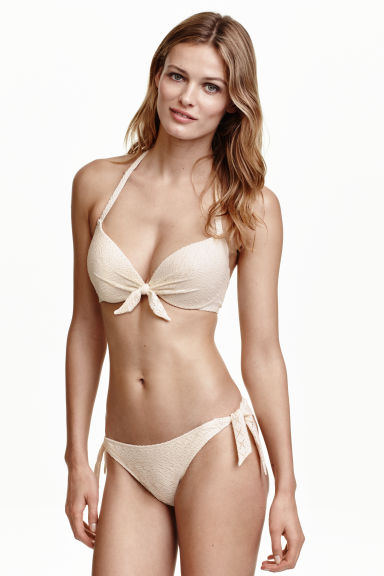 Bikini bottoms - Natural white/Lace -  | H&M GB