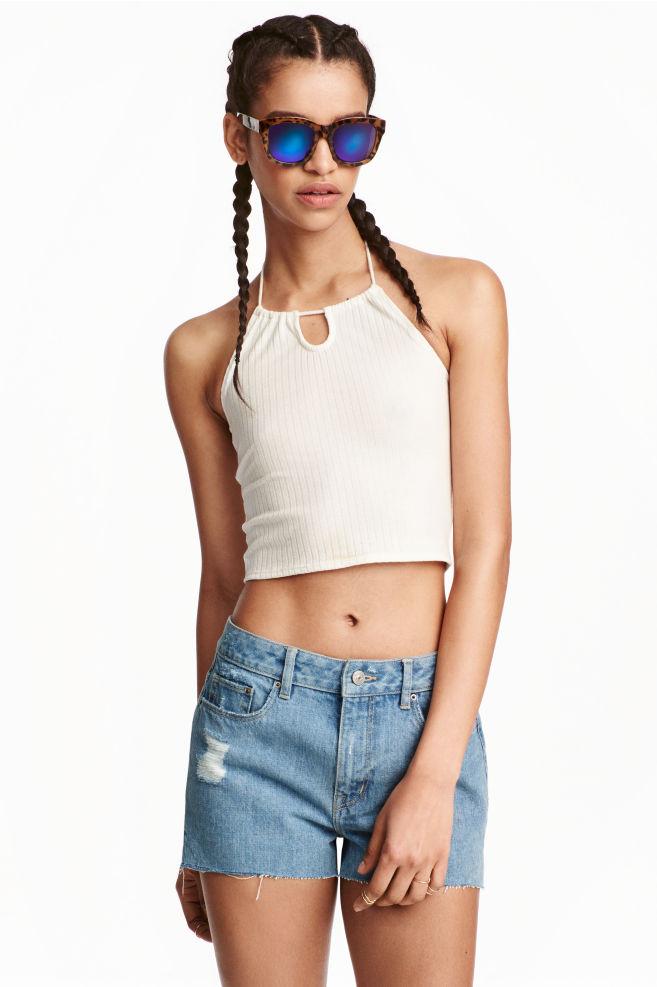 Halternecklinne - Vit - DAM  2a39a63c67771