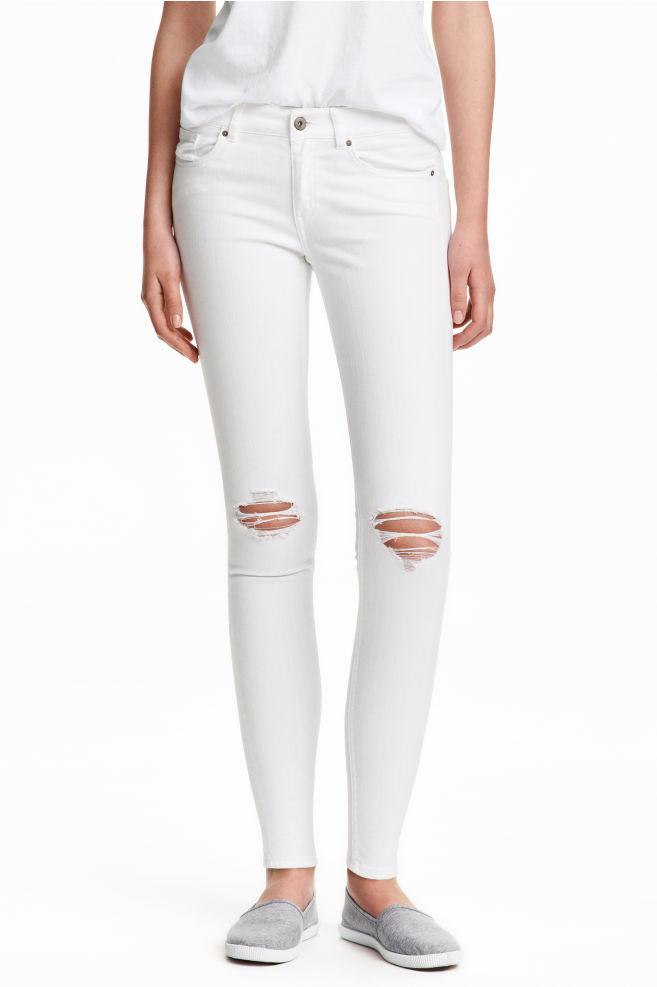44ea6cd961 Super Skinny Ankle Jeans - White -