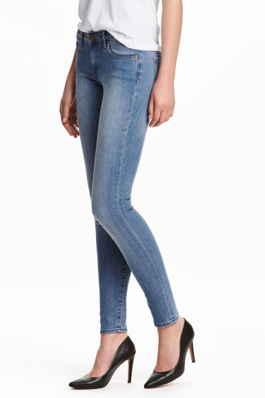 Super Skinny Low Jeans - 浅牛仔蓝 - Ladies | H&M CN