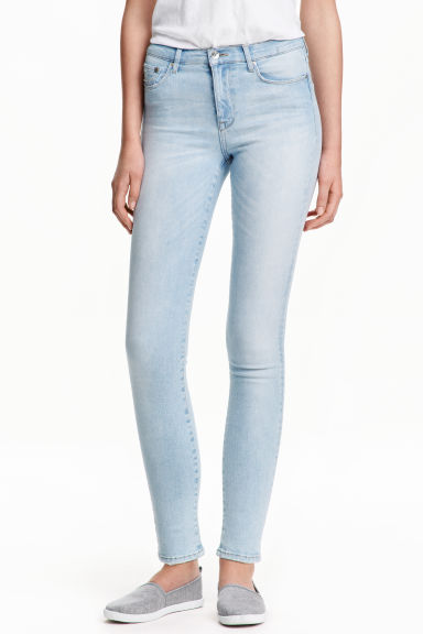 Shaping Skinny Regular Jeans - Hellblau -  | H&M DE