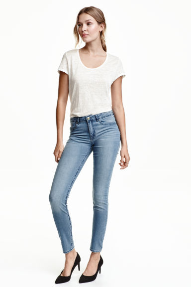 Pantalon stretch - Bleu denim -  | H&M FR