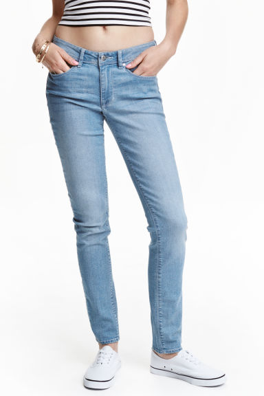Super Skinny Regular Jeans - Light denim blue -  | H&M CN