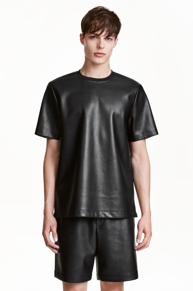 Műbőr póló - Fekete - FÉRFI  c6e7912316