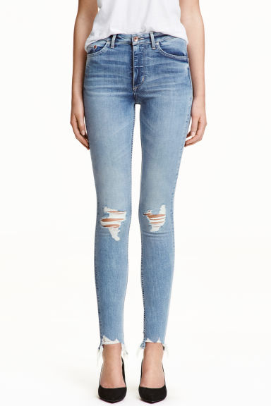 Skinny High Ankle Jeans - 浅牛仔蓝 - Ladies | H&M CN
