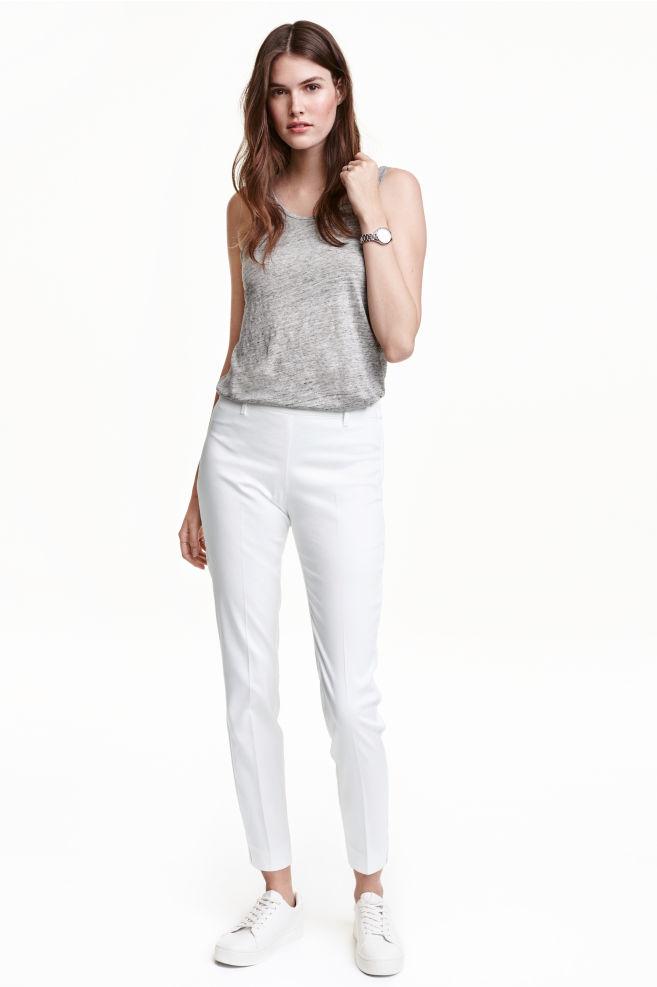 aef9cea099cc5 Pantalon - Blanc - FEMME | H&M ...