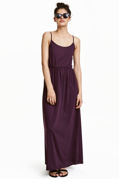Long Dress - Dark purple - Ladies | H&M US
