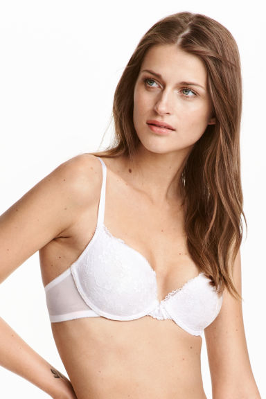 Lace push-up bra - White - Ladies | H&M CN