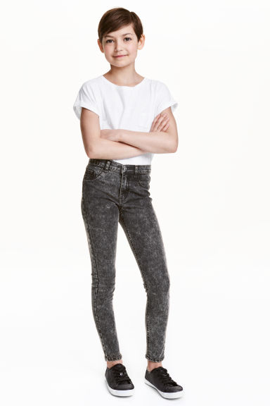 Stretch trousers - Nearly black - Kids | H&M CN