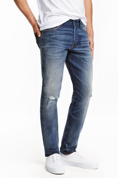 Slim Low Jeans - Denim blue -  | H&M CN