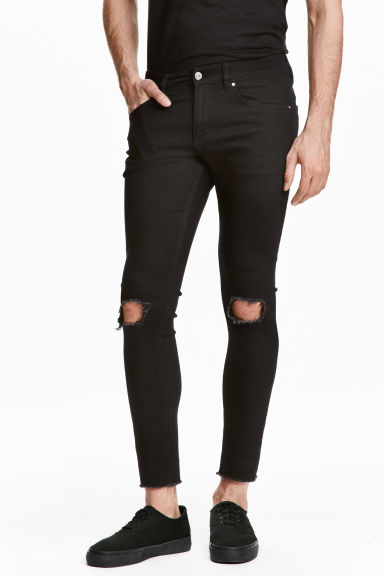 Super Skinny Ankle Jeans - Black - Men | H&M CN