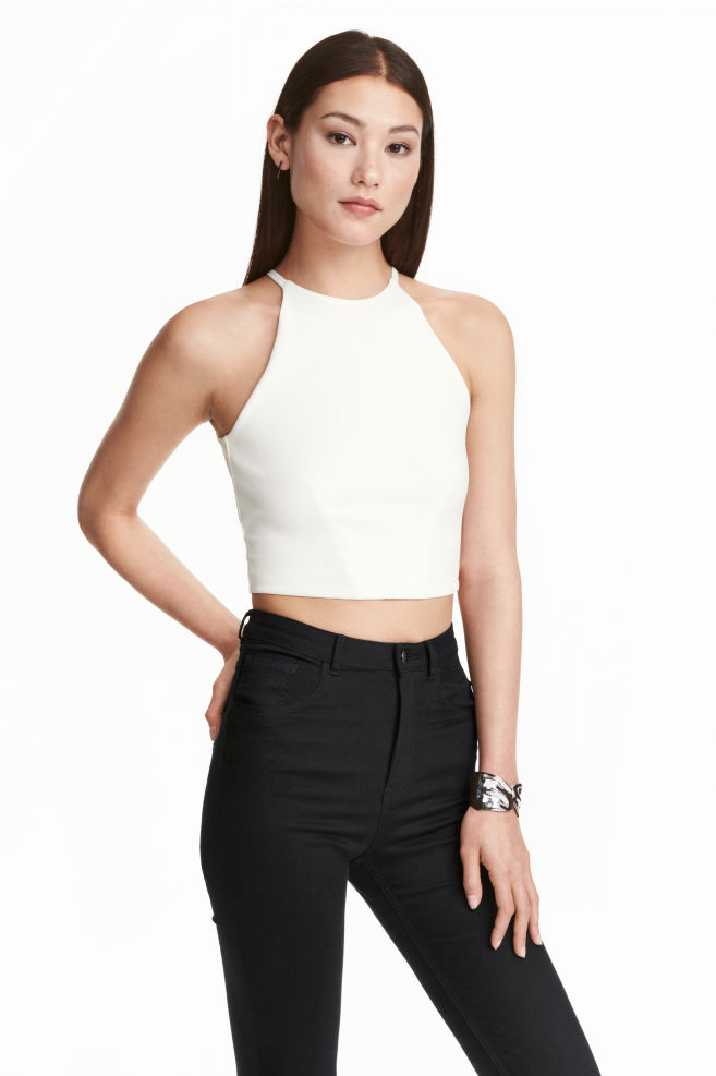 be7168fdfb2d7 Crop top - White - Ladies