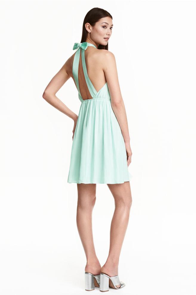 Vestido halter con lazo - Menta - | H&M ES