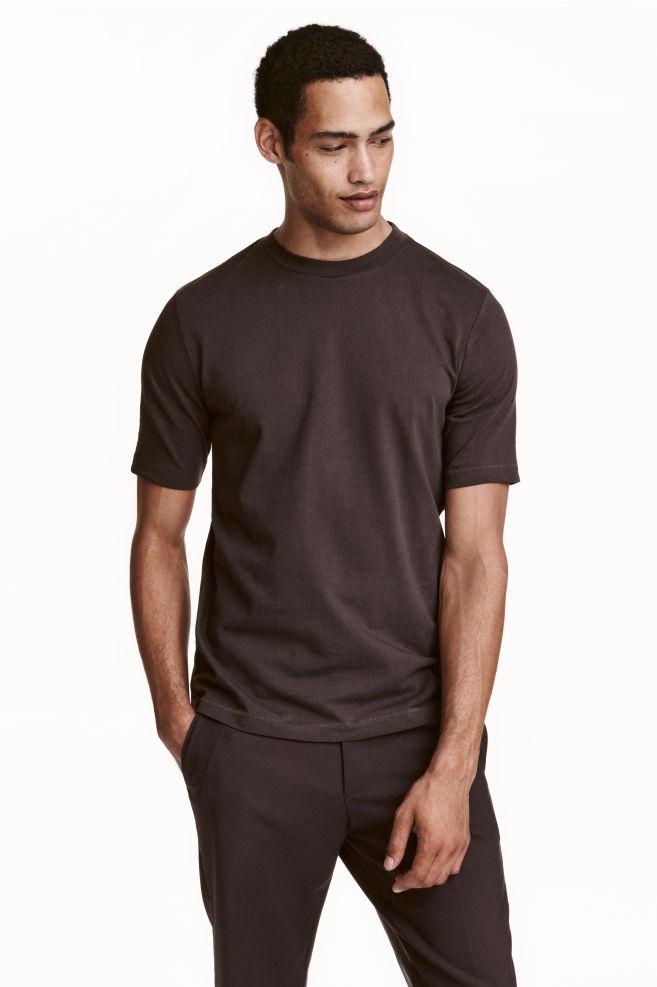 9e452d3823a6 Cotton T-shirt - Dark brown - Men | H&M ...