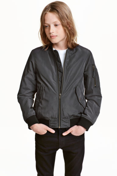Bomber jacket - Dark grey - Kids | H&M CN