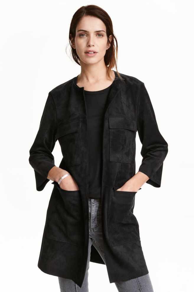 e574e3dee0 Művelúr kabát - Fekete - NŐI | H&M ...