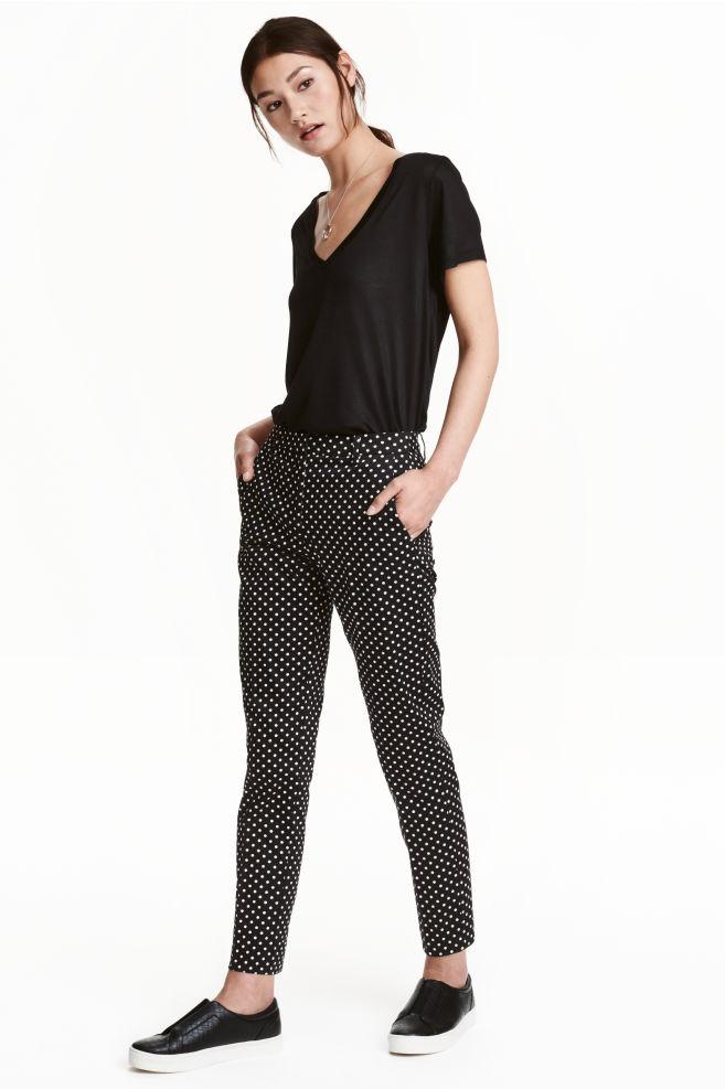 4a99230c39 Nadrág - Fekete/pöttyös - NŐI | H&M ...