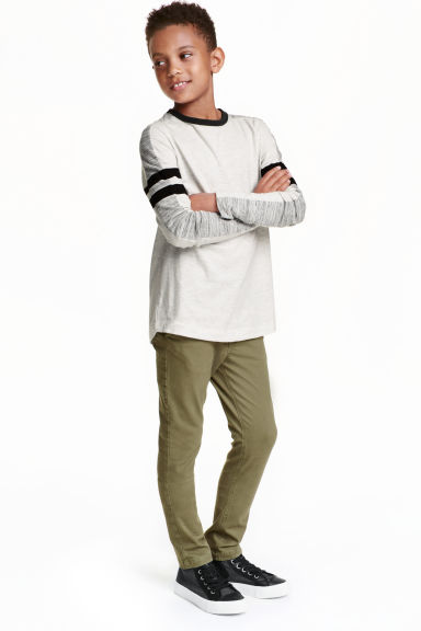 Skinny fit Chinos - Khaki green - Kids | H&M CN